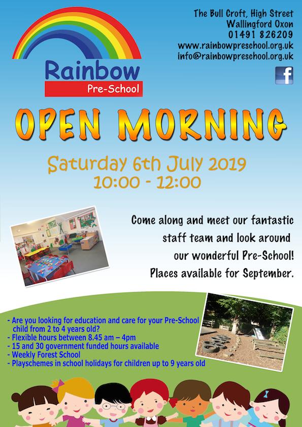 Rainbow open day 2019